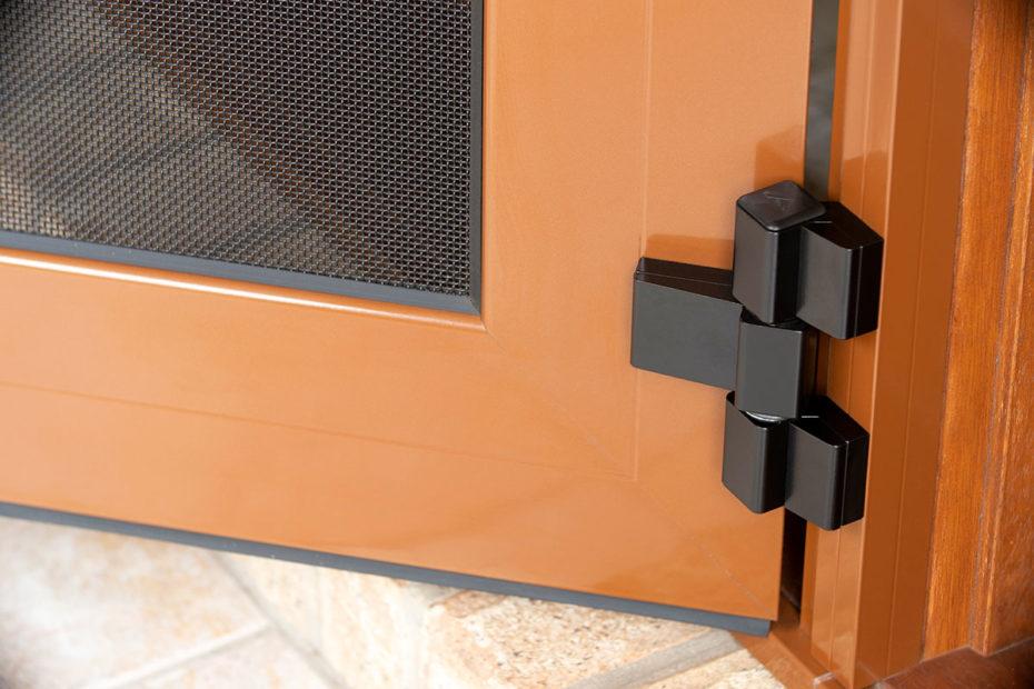 Crimsafe door hinge detail